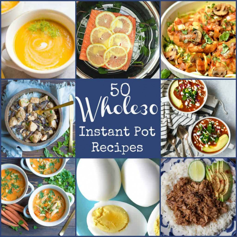 15+ Whole15 Instant Pot Recipes!! - Wholesomelicious - Instant Pot Recipes Dinner