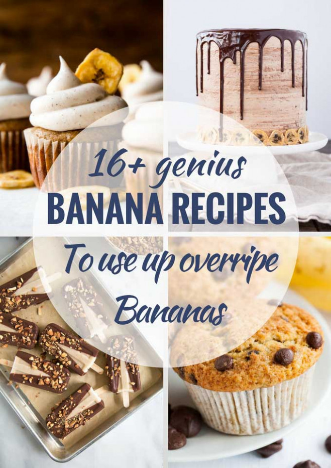 16 Delicious Recipes to Use up Ripe Bananas | Plated Cravings - healthy recipes ripe bananas