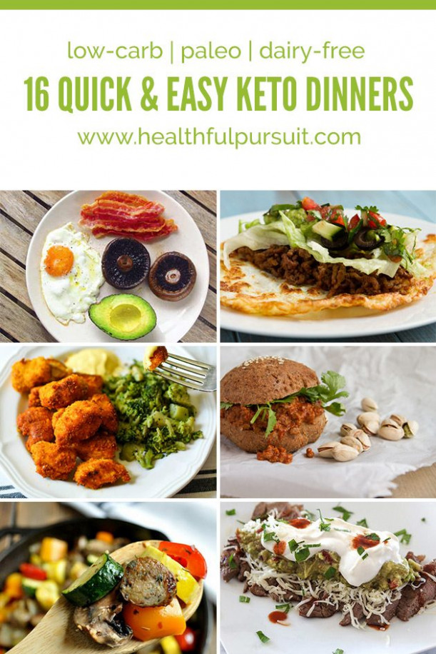 16 Quick and Easy Keto Dinners | Healthful Pursuit - quick and easy keto dinner recipes