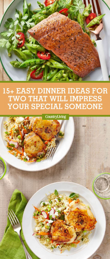 17 Easy Dinner Ideas for Two - Romantic Dinner for Two Recipes - recipes easy dinner for two