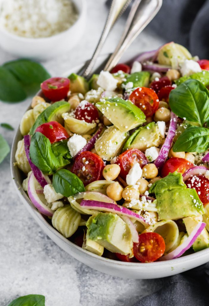 18 of the Best Healthy Pasta Salad Recipes   Ambitious Kitchen - healthy salad recipes vegetarian
