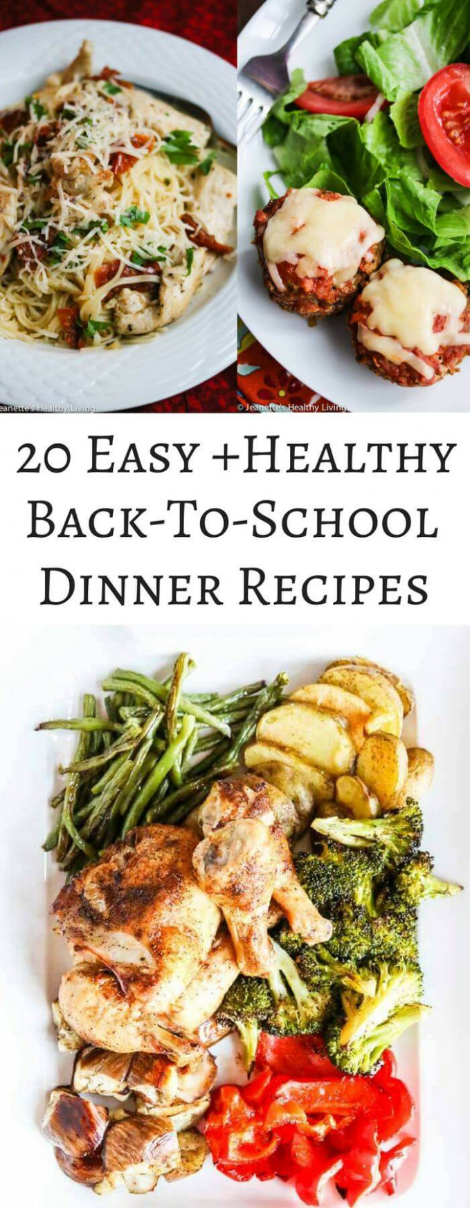 20 Easy Healthy Back-To-School Dinner Recipes - Jeanette's ..