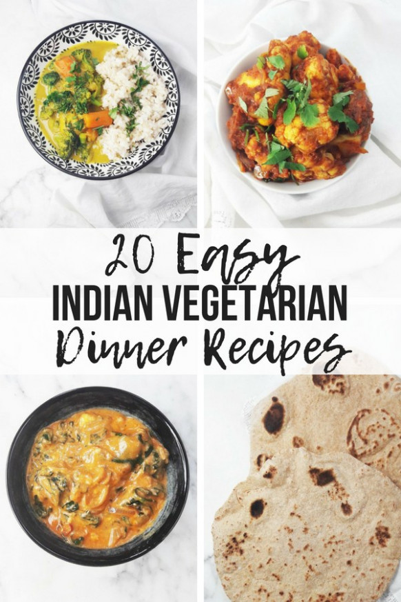 20 Easy Indian Vegetarian Dinner Recipes - A Hedgehog in ..
