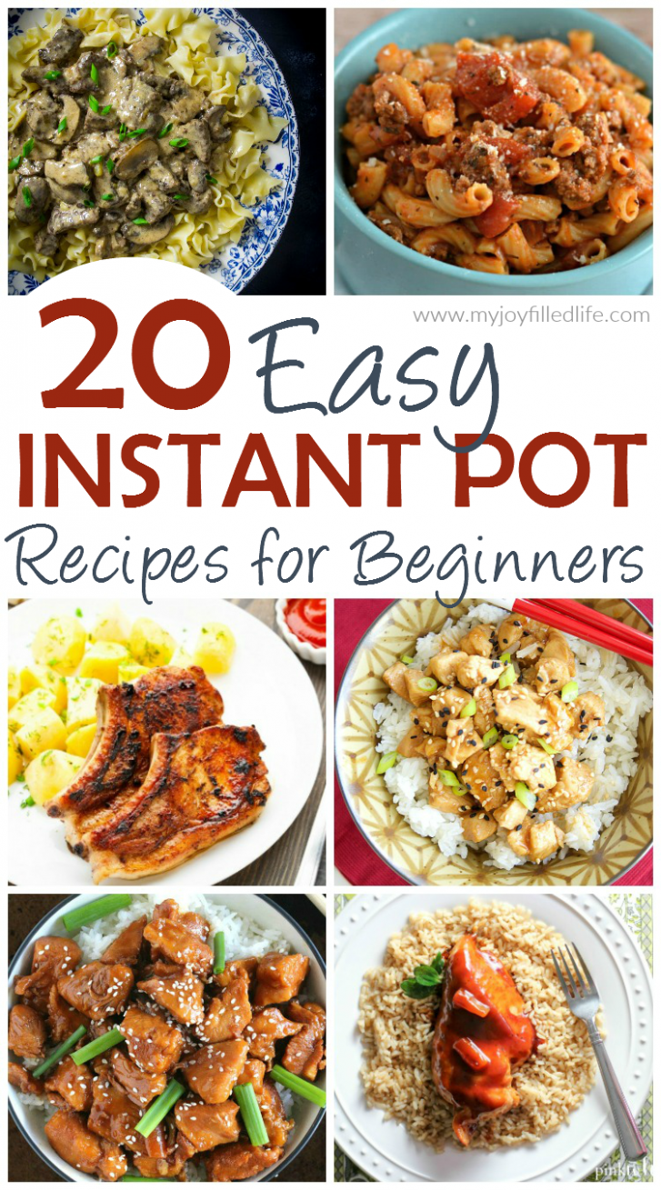 20 Easy Instant Pot Recipes For Beginners - My Joy Filled Life - Instant Pot Easy Recipes Dinner