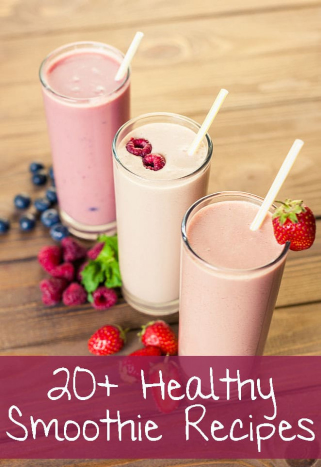 20+ Incredible Healthy Smoothie Recipes - recipes smoothies healthy
