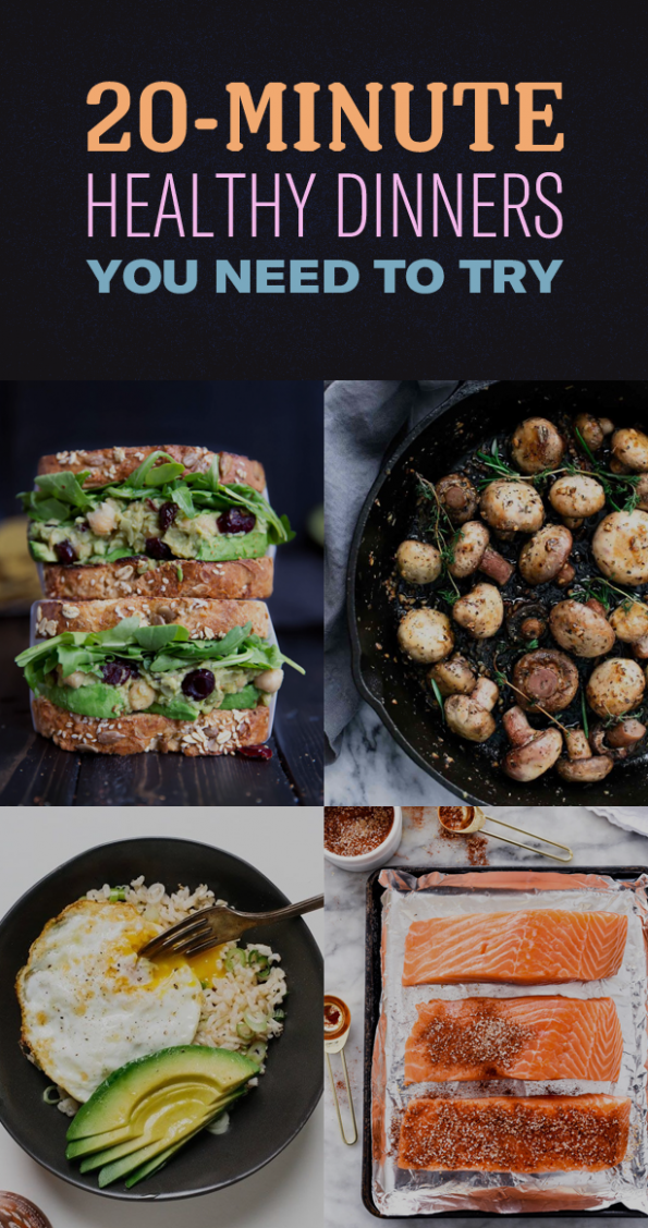 20-Minute Healthy Dinner Ideas - dinner recipes buzzfeed