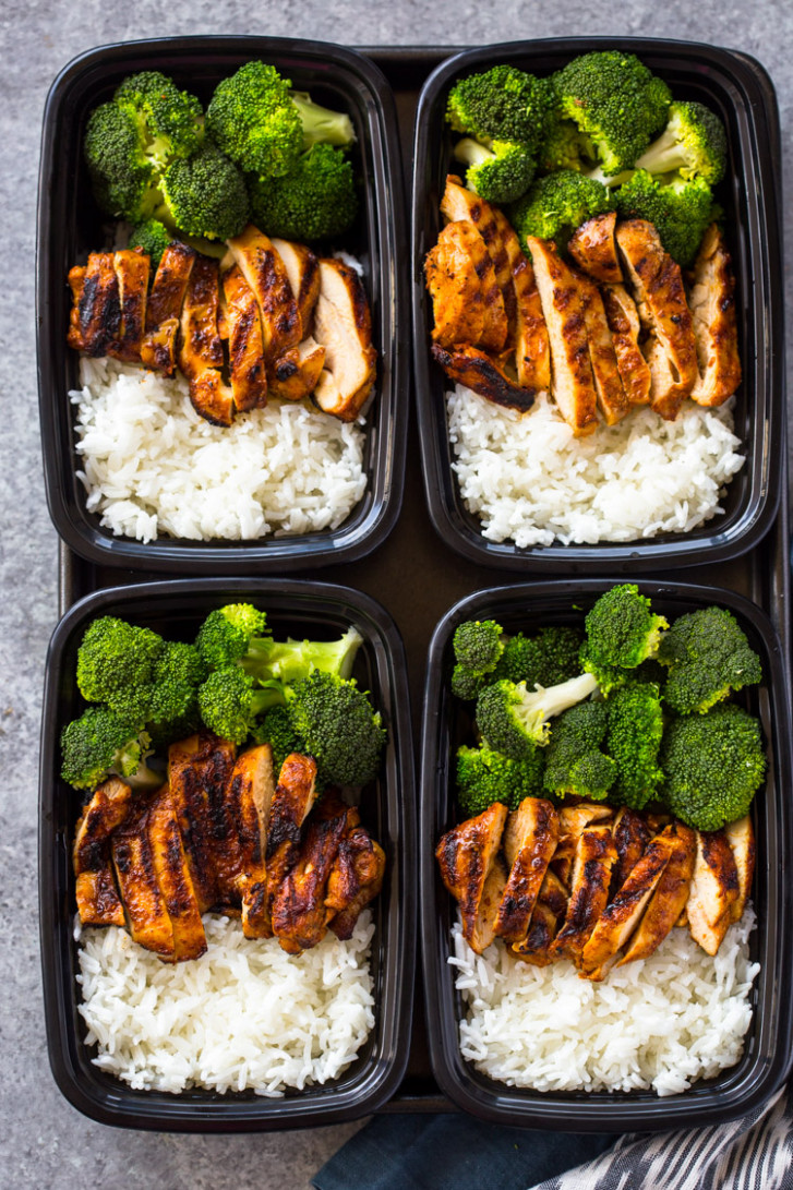 20 Minute Meal-Prep Chicken, Rice and Broccoli | Gimme ..