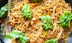 20 Minute Sticky Basil Thai Noodles – Layers Of Happiness – Recipes For Thai Food