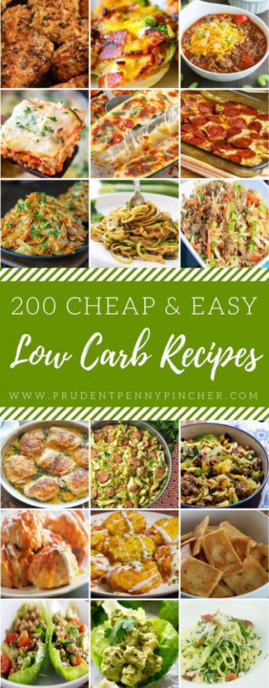 200 Cheap & Easy Low Carb Recipes - Prudent Penny Pincher - recipes low budget healthy