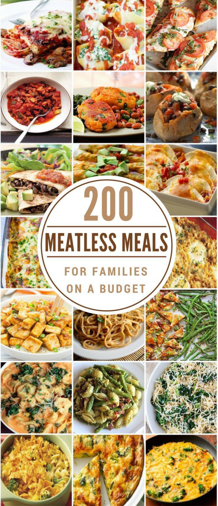 200 Meatless Meals for Families on a Budget | Vegetarian ..