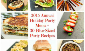 2015 Annual Holiday Party Menu + 30 Vegan Bite Sized Party ..