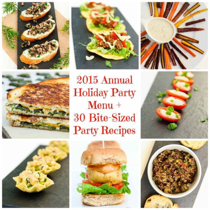 2015 Annual Holiday Party Menu + 30 Vegan Bite-Sized Party ..