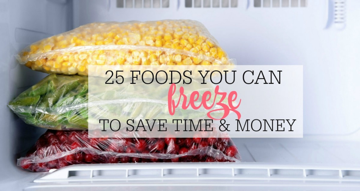 25 Foods You Can Freeze To Save Time And Money - Frugally ..