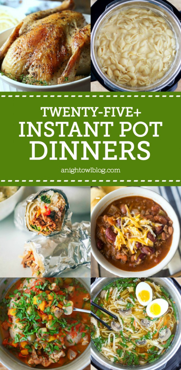 25+ Instant Pot Dinner Recipes | A Night Owl Blog - dinner recipes instant pot