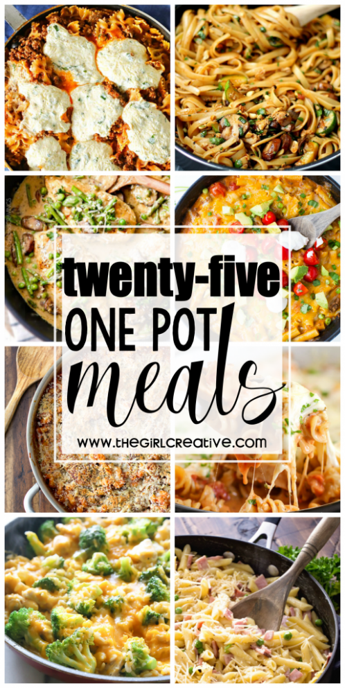 25 One Pot Meals - The Girl Creative - one pot recipes dinner party