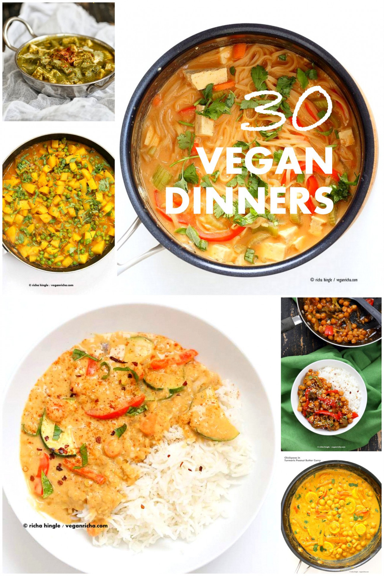 30 Easy Vegan Dinner Recipes - Vegan Richa - quick indian dinner recipes vegetarian