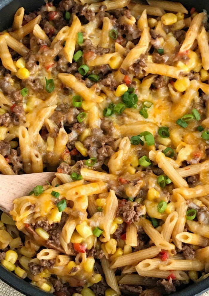 30 minutes, one pan BBQ Beef Pasta Skillet - Together as ..