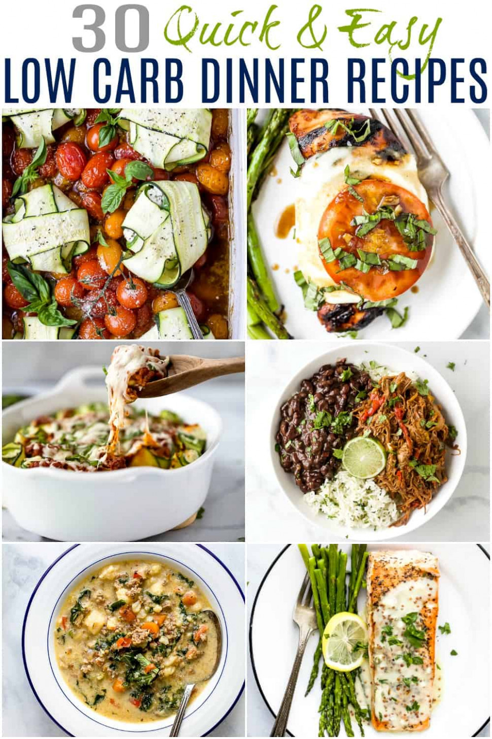 30 Quick Easy Low Carb Dinner Recipes | Low Carb Recipes ..