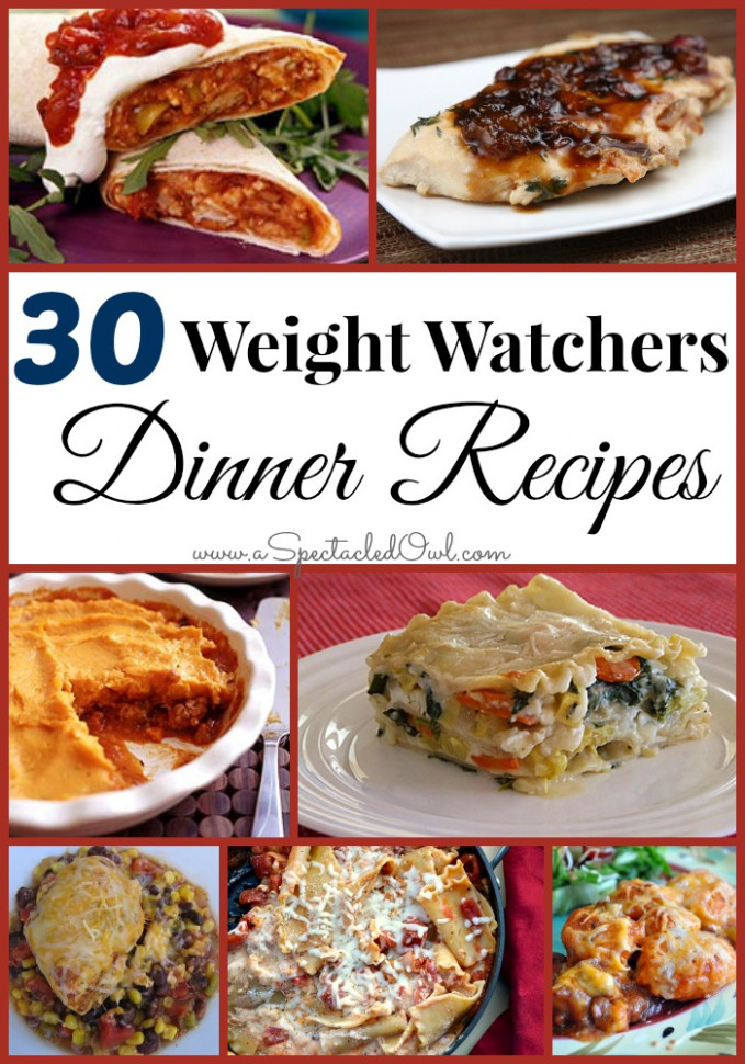 30 Weight Watchers DINNER Recipes - A Spectacled Owl - Ww Recipes Dinner