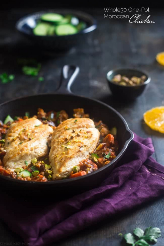30+ Whole 30 Weeknight Dinner Recipes - Food Faith Fitness - Moroccan Recipes Chicken