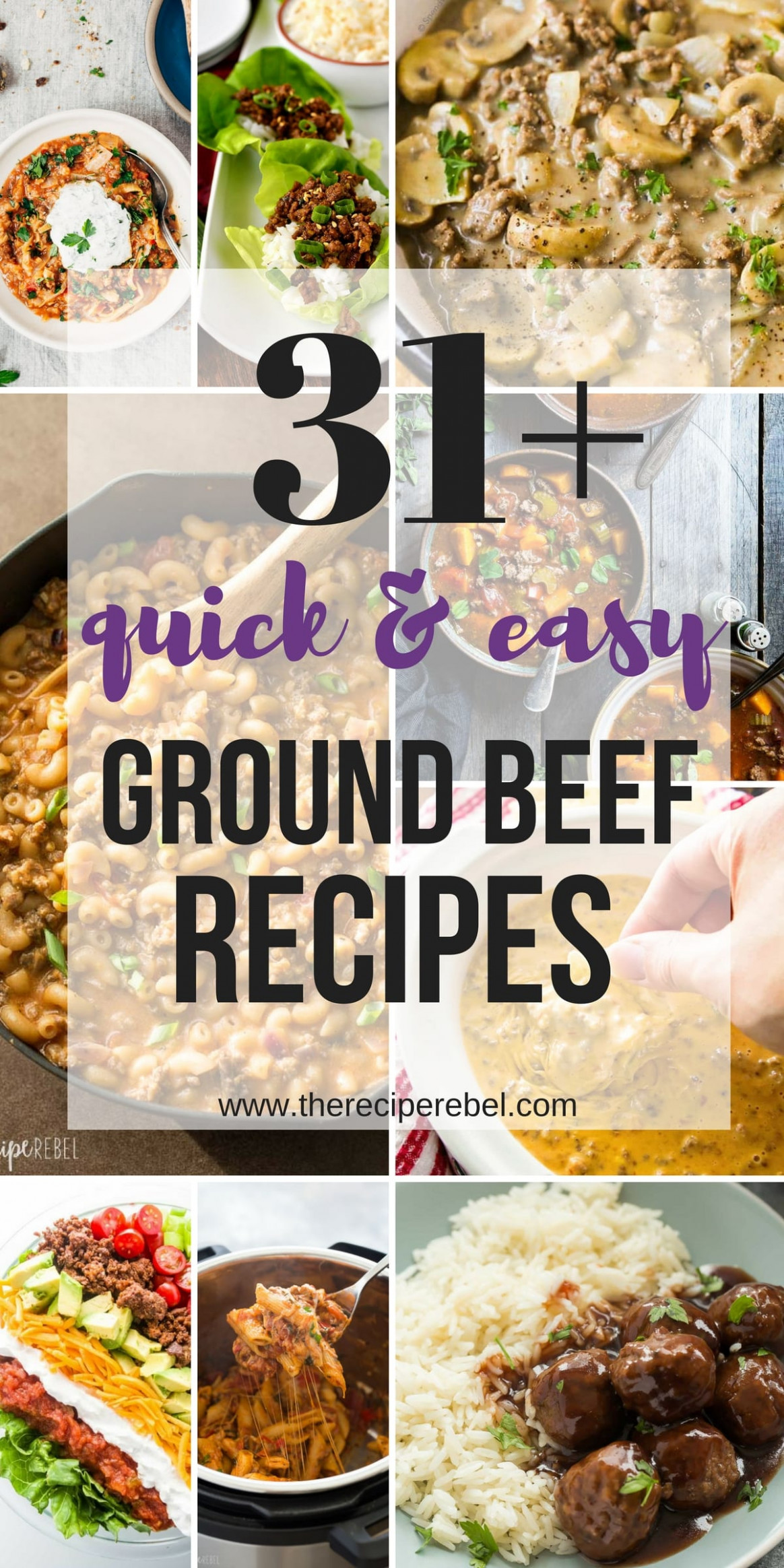 31+ Quick Ground Beef Recipes - easy, family-friendly ..