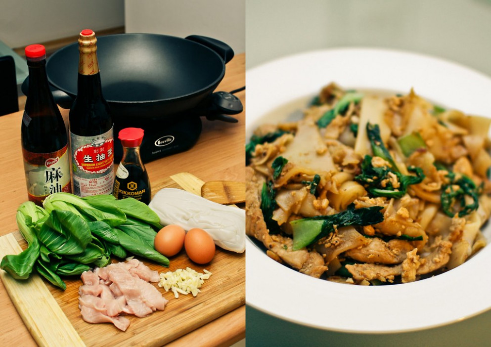 32/365 - Pad See Ew: before and after - recipes dark meat chicken