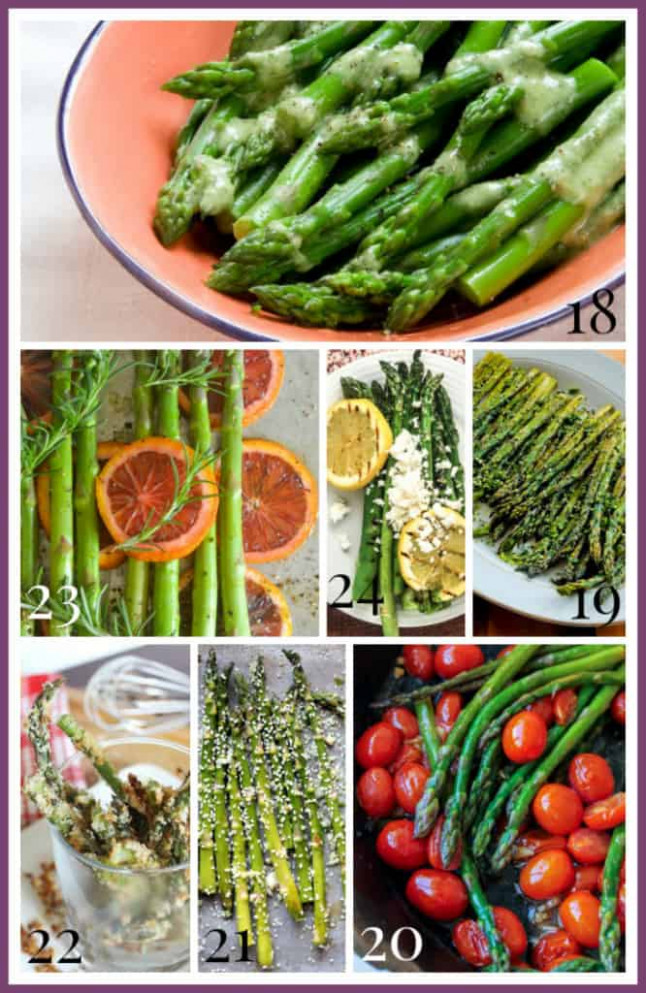 35 Healthy Asparagus Recipes - Healthy Seasonal Recipes - Vegetarian Recipes Asparagus