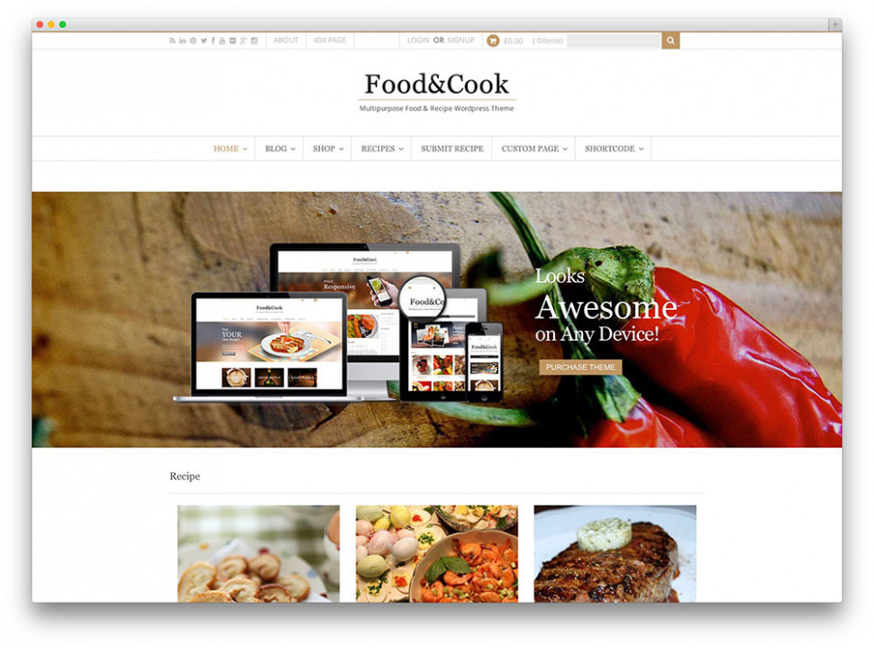 38 Awesome Food WordPress Themes to Share Recipes 2019 ..