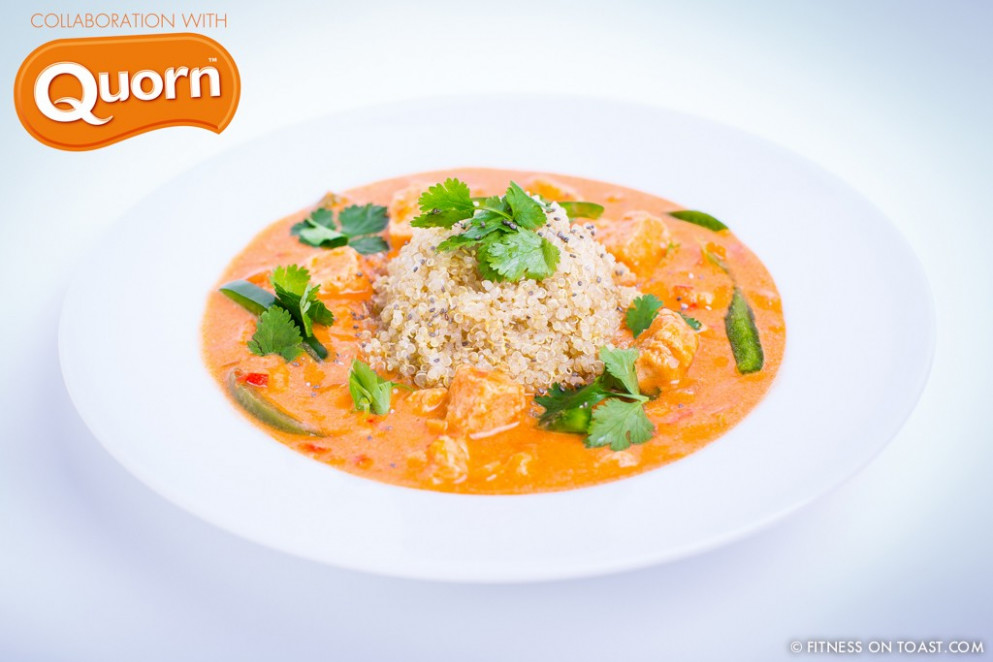'QUORN CHICKEN KORMA' RECIPE !!! | Fitness on Toast - quorn recipes chicken pieces
