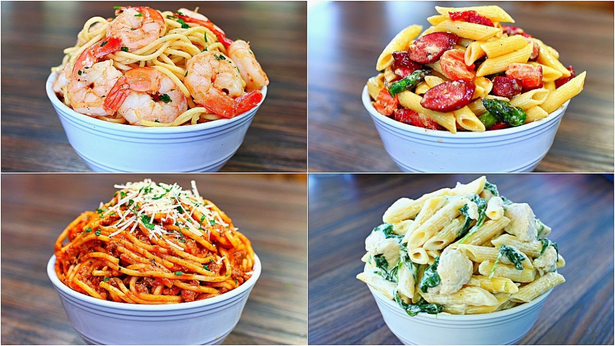 4 Great Pasta Recipes - Easy And Delicious Pasta Dinner ..