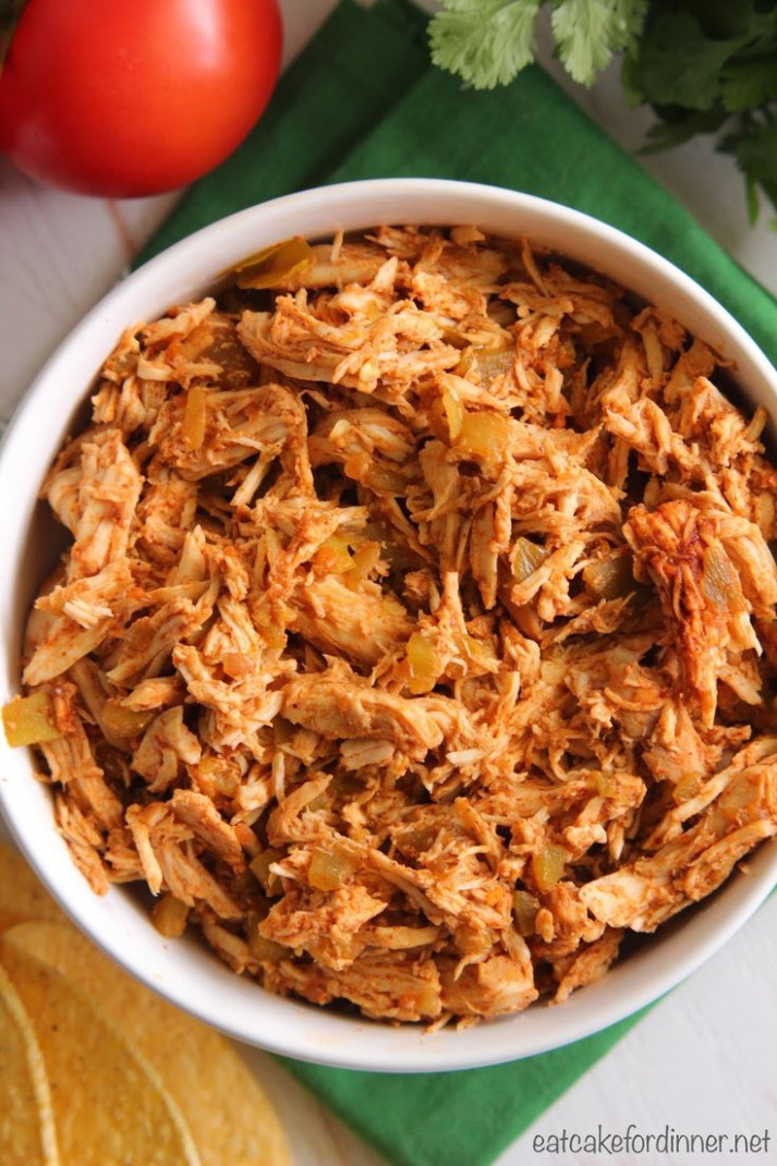 4-Ingredient Slow Cooker Mexican Shredded Chicken (Go-To ..