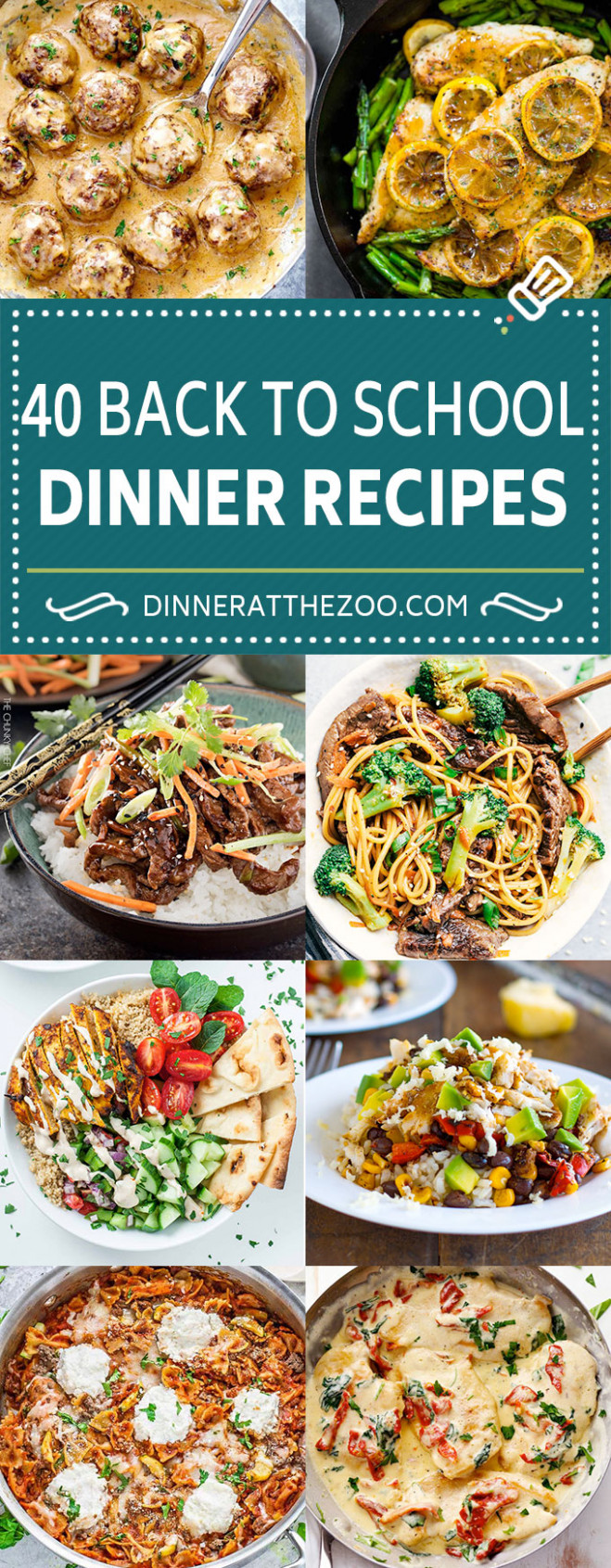 40 Back To School Recipes - Dinner At The Zoo - Dinner At The Zoo Recipes