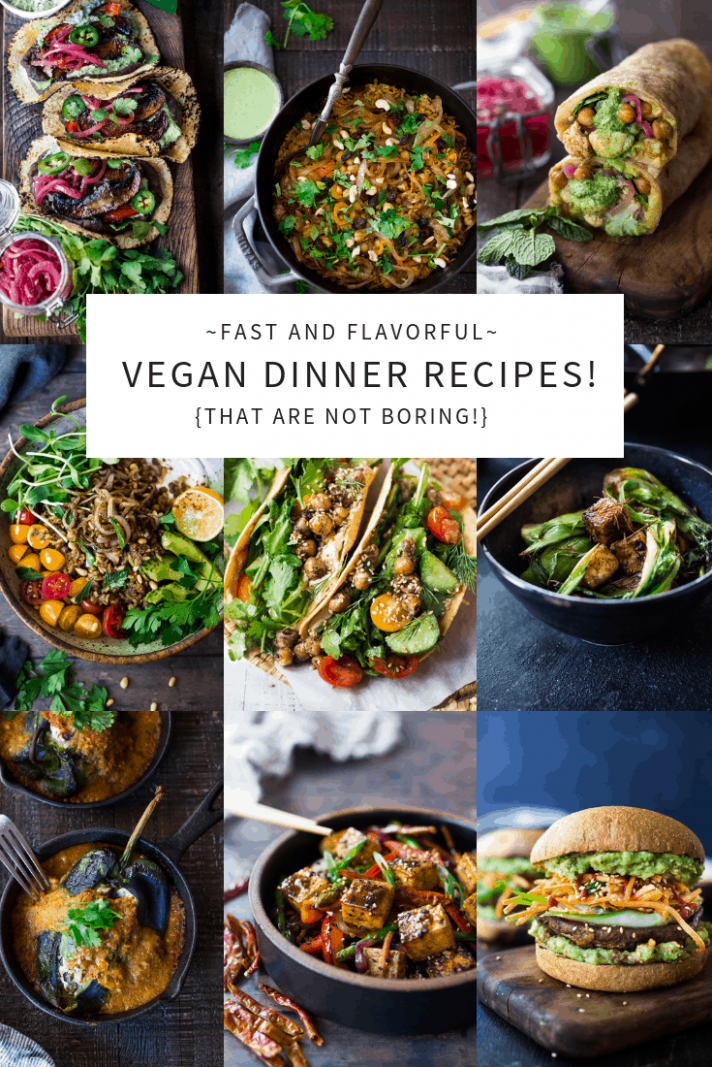40 Mouthwatering Vegan Dinner Recipes! | Feasting At Home - recipes dinner tasty