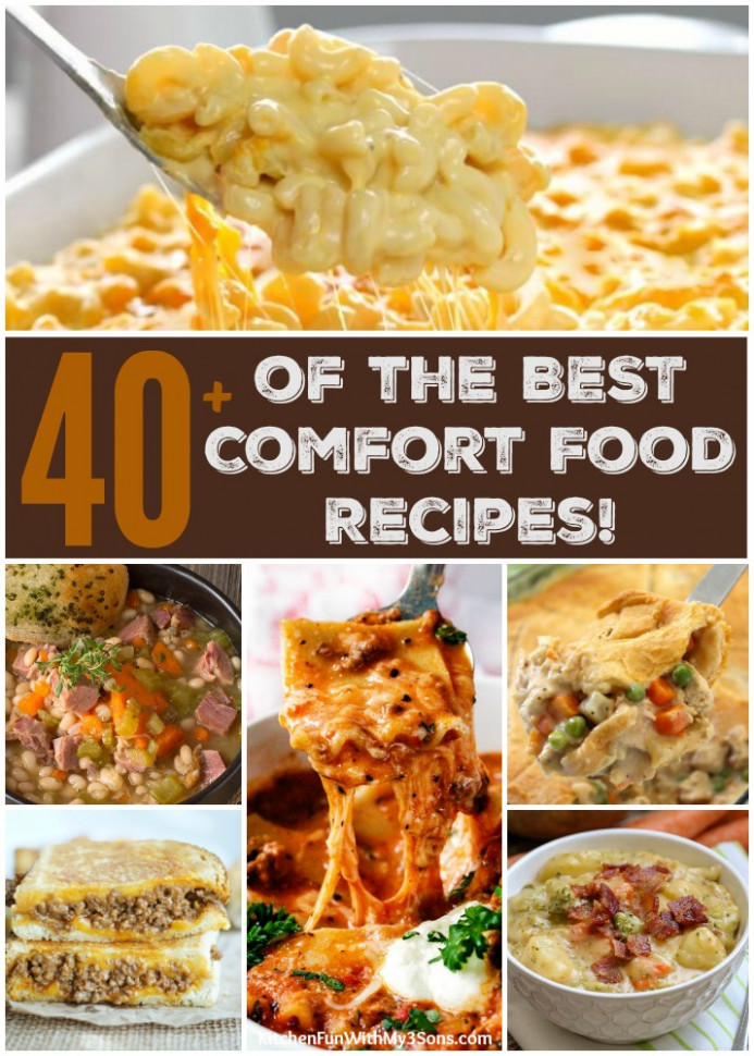 40+ of the BEST Comfort Food Recipes - Kitchen Fun With My ..