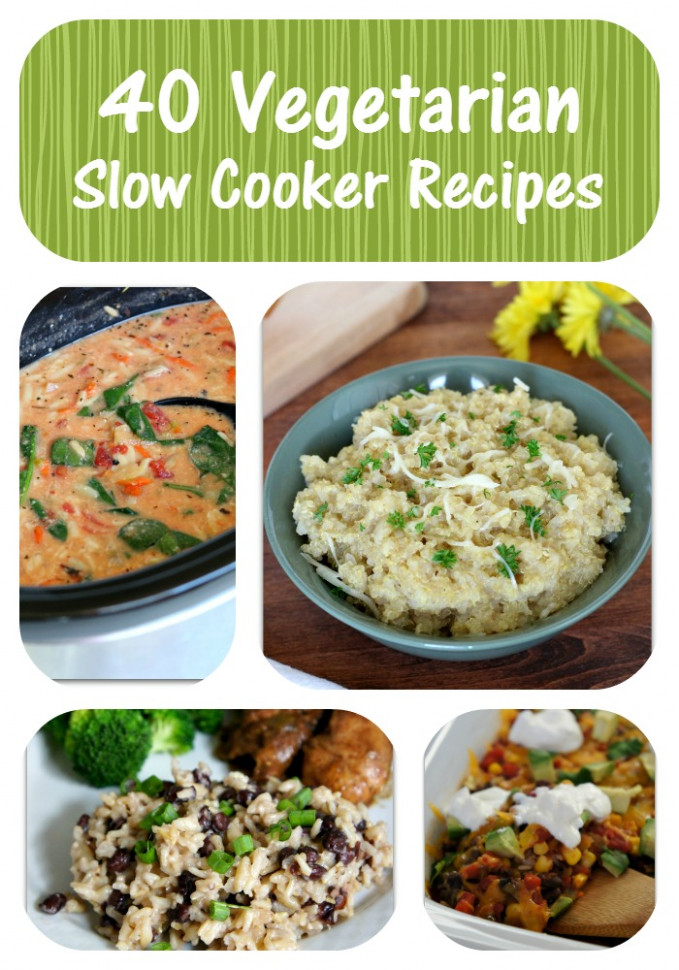 40 Vegetarian Slow Cooker Recipes - 365 Days of Slow ..