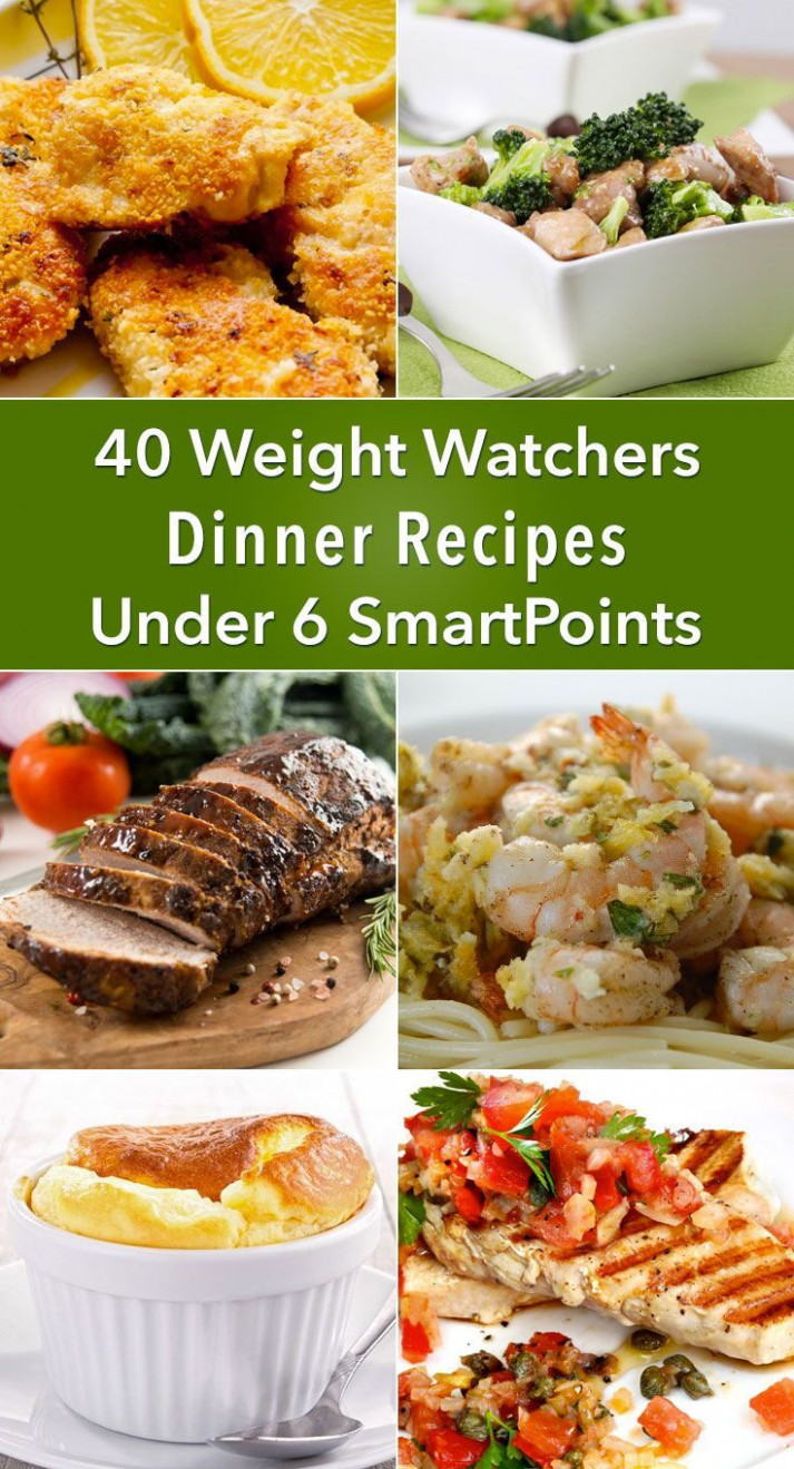 40 Weight Watchers Dinner Recipes Under 6 SmartPoints ..
