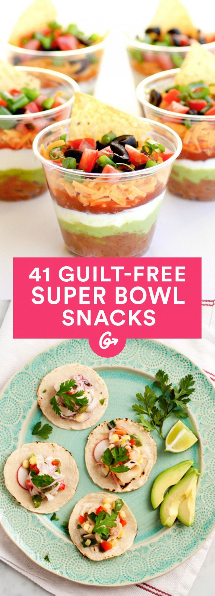 41 Guilt-Free Super Bowl Snacks | Super bowl, Health and Bowls - recipes of healthy snacks