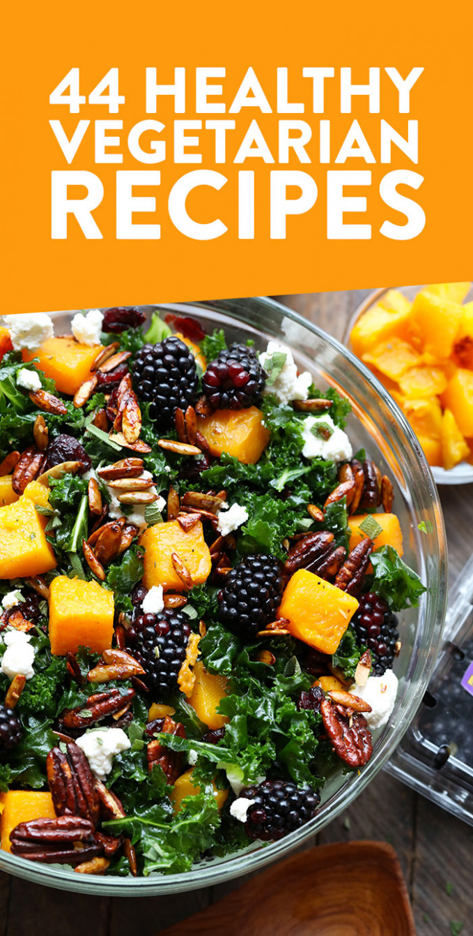 44 of Our Favorite Healthy Vegetarian Recipes! - Fit ..