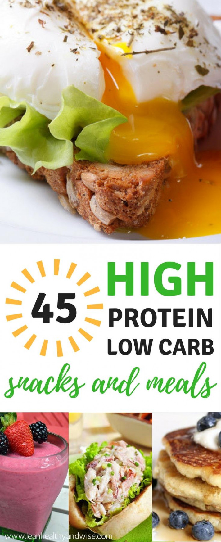 45 High Protein Low Carb Snacks and Meals: Best Weight ..