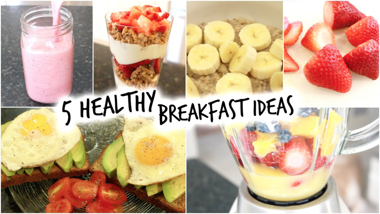 5 Healthy Breakfast Ideas For School! (Quick And Easy ..