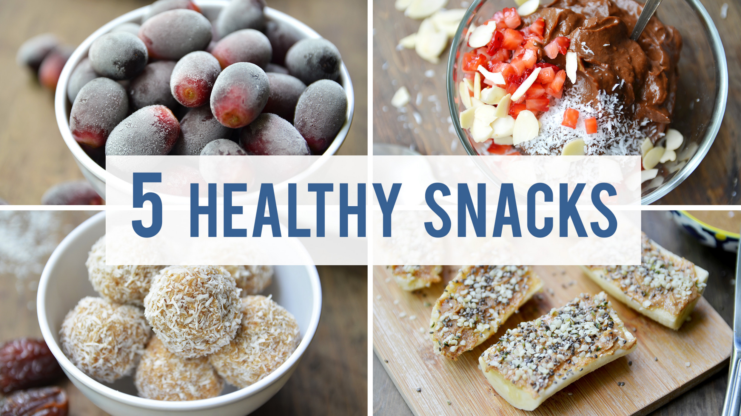 5 Healthy Snacks For Your Sweet Tooth - Fablunch - recipes snacks healthy