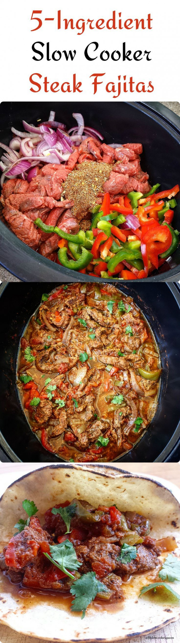 5-Ingredient Slow Cooker/Instant Pot Steak Fajitas (Low ..