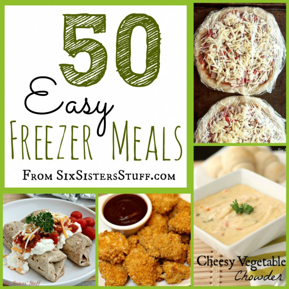 50 Delicious Freezer Meals | Six Sisters' Stuff - Recipes To Freeze For Dinner