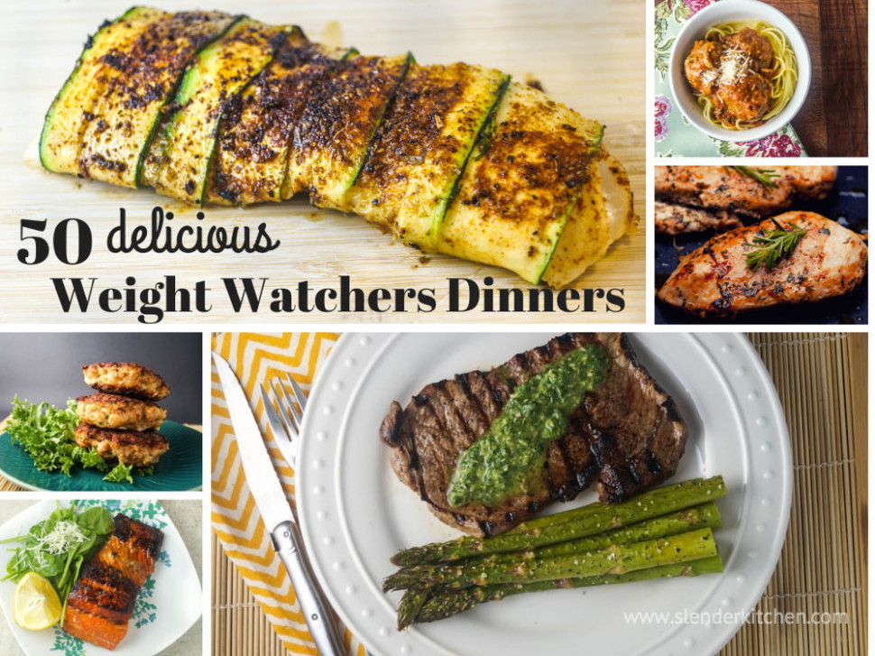 50 Delicious Weight Watchers Dinners - Slender Kitchen - Dinner Recipes Yummy