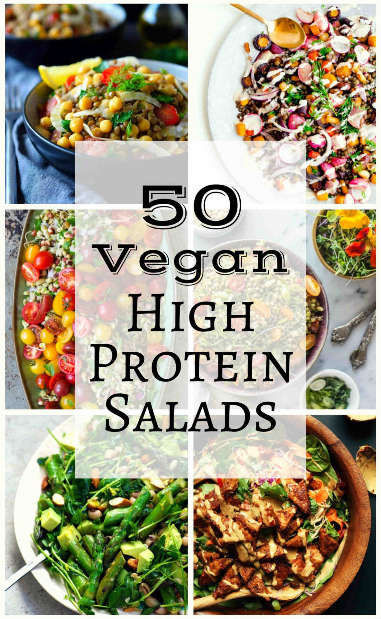 50 Vegan High Protein Salads | The Stingy Vegan - Vegetarian Recipes That Are High In Protein