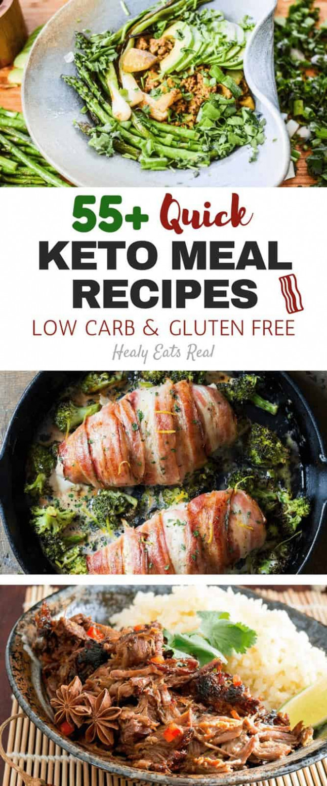 55+ Quick Keto Meal Recipes (Low Carb & Gluten Free ..