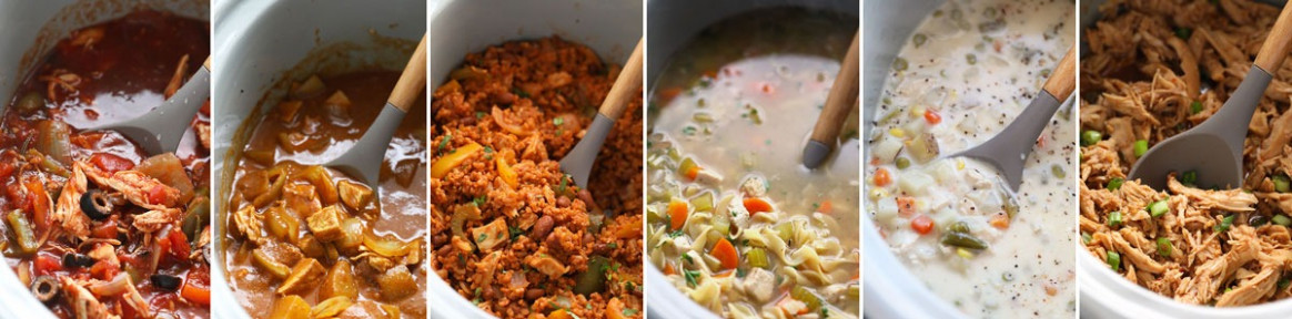 6 Crockpot Freezer Meals - Fit Foodie Finds - healthy recipes to freeze