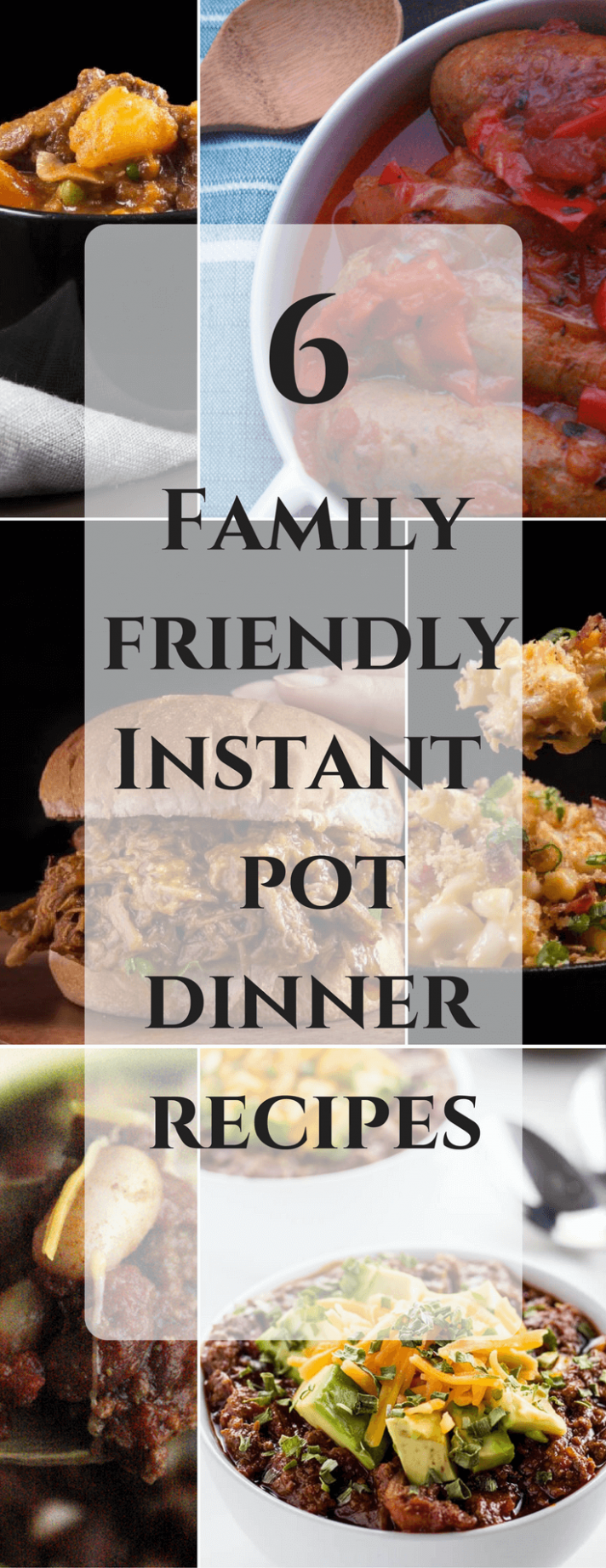 6 Family Friendly Instant Pot Dinner Recipes - instant pot recipes dinner