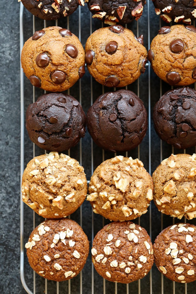6 Healthy Muffin Recipes (1 Base Batter) - Fit Foodie Finds - recipes muffins healthy