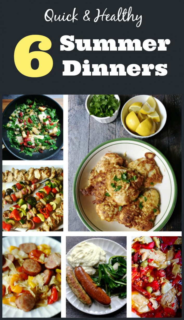 6 Quick & Healthy Summer Dinners - healthy summer recipes dinner